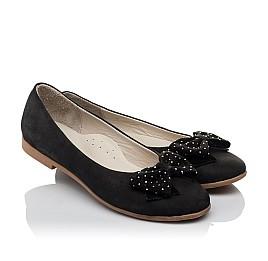 Детские туфли Woopy Orthopedic черный для девочек натуральный нубук размер 37-39 (3691) Фото 1