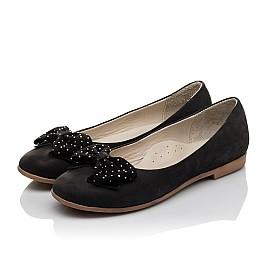 Детские туфли Woopy Orthopedic черный для девочек натуральный нубук размер 37-39 (3691) Фото 3