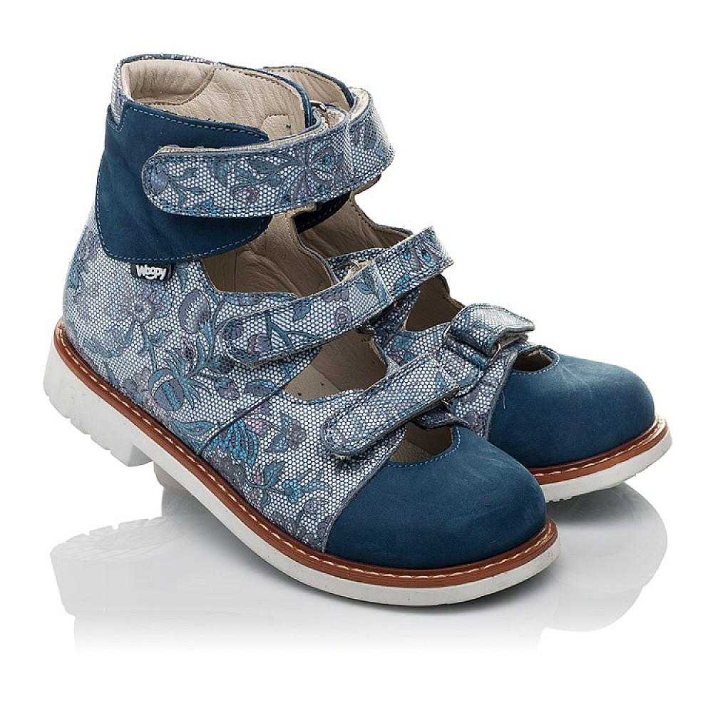 59daf7a8a173a1 Дитячі Ортопедичні туфлі (з високим берцем) Woopy Orthopedic сині ...
