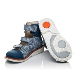 Детские ортопедические туфли (с высоким берцем) Woopy Orthopedic синие для девочек натуральный нубук размер 24-34 (3692) Фото 2