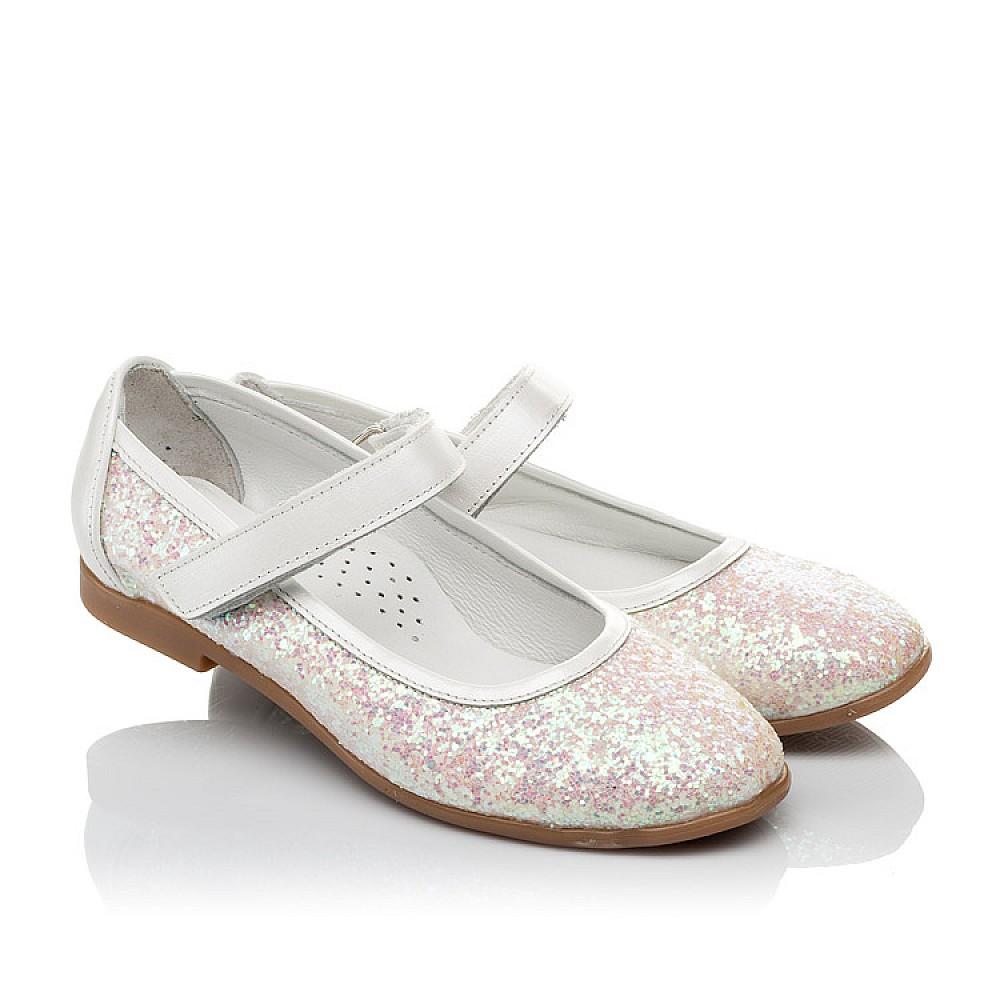 Детские туфли Woopy Orthopedic белые, розовые для девочек современный искусственный материал размер 31-37 (3693) Фото 1