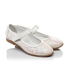 Детские туфли Woopy Orthopedic белые, розовые для девочек современный искусственный материал размер 32-33 (3693) Фото 1