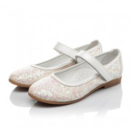 Детские туфли Woopy Orthopedic белые, розовые для девочек современный искусственный материал размер 32-33 (3693) Фото 3
