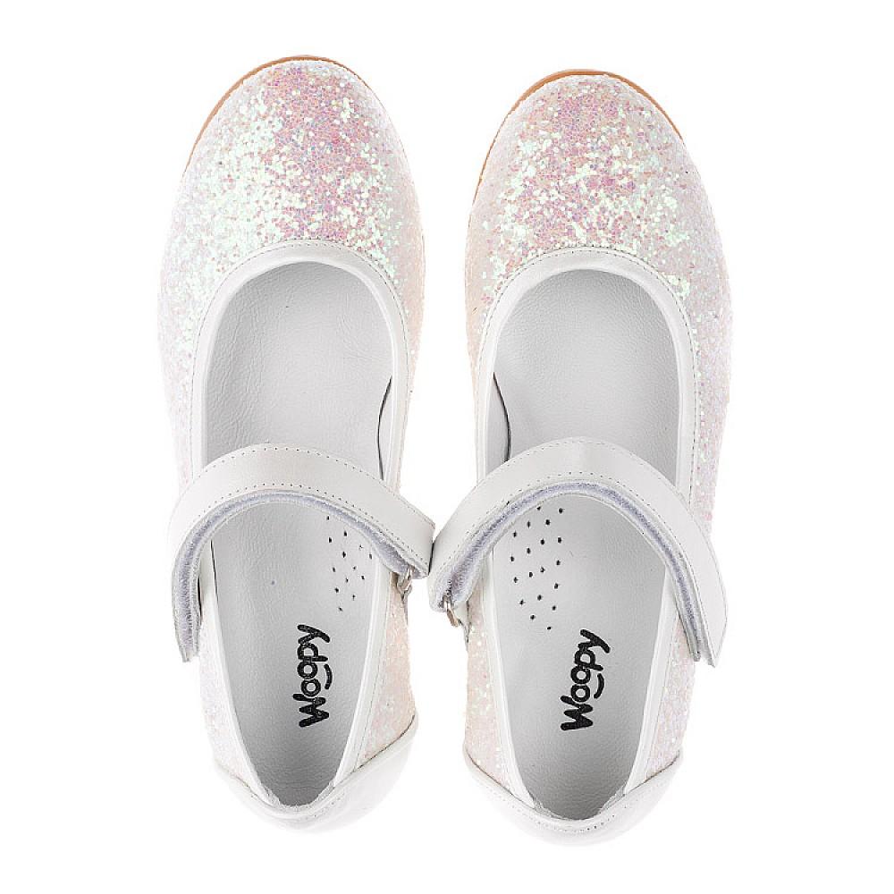 Детские туфли Woopy Orthopedic белые, розовые для девочек современный искусственный материал размер 31-37 (3693) Фото 5