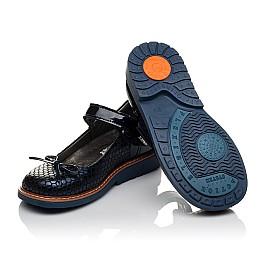 Детские туфли ортопедические Woopy Orthopedic темно-синие для девочек лаковая кожа, нубук размер 34-34 (3695) Фото 2