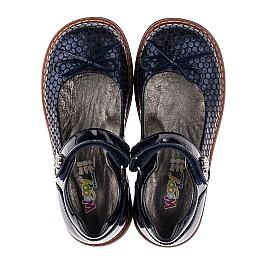 Детские туфли ортопедические Woopy Orthopedic темно-синие для девочек лаковая кожа, нубук размер 34-34 (3695) Фото 5