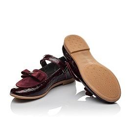 Детские туфли Woopy Orthopedic бордовые для девочек лаковая кожа, замша размер 29-36 (3696) Фото 2
