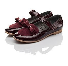 Детские туфли Woopy Orthopedic бордовые для девочек лаковая кожа, замша размер 29-36 (3696) Фото 3