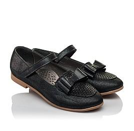 Детские туфли Woopy Orthopedic темно-синие для девочек натуральная кожа размер 28-36 (3698) Фото 1