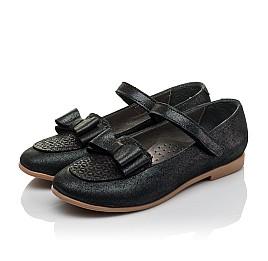 Детские туфли Woopy Orthopedic темно-синие для девочек натуральная кожа размер 28-36 (3698) Фото 3