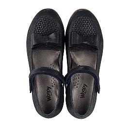 Детские туфли Woopy Orthopedic темно-синие для девочек натуральная кожа размер 28-36 (3698) Фото 5