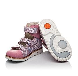 Детские ортопедические туфли (с высоким берцем) Woopy Orthopedic розовые для девочек натуральный нубук размер 24-30 (3699) Фото 2