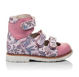 Детские ортопедические туфли (с высоким берцем) Woopy Orthopedic розовые для девочек натуральный нубук размер 24-30 (3699) Фото 4