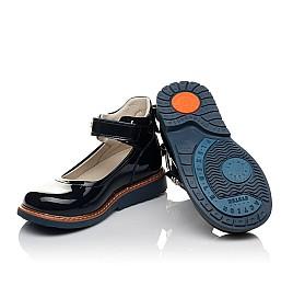 Детские туфли ортопедические Woopy Orthopedic темно-синие для девочек натуральная лаковая кожа размер 28-36 (3700) Фото 2