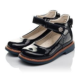 Детские туфли ортопедические Woopy Orthopedic темно-синие для девочек натуральная лаковая кожа размер 28-36 (3700) Фото 3
