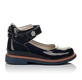 Детские туфли ортопедические Woopy Orthopedic темно-синие для девочек натуральная лаковая кожа размер 28-36 (3700) Фото 4