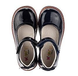Детские туфли ортопедические Woopy Orthopedic темно-синие для девочек натуральная лаковая кожа размер 28-36 (3700) Фото 5