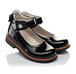 Детские туфли ортопедические Woopy Orthopedic черные для девочек натуральная лаковая кожа размер 28-35 (3703) Фото 1