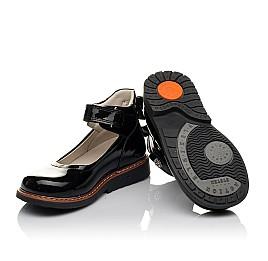 Детские туфли ортопедические Woopy Orthopedic черные для девочек натуральная лаковая кожа размер 28-35 (3703) Фото 2