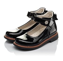 Детские туфли ортопедические Woopy Orthopedic черные для девочек натуральная лаковая кожа размер 28-35 (3703) Фото 3