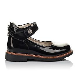 Детские туфли ортопедические Woopy Orthopedic черные для девочек натуральная лаковая кожа размер 28-35 (3703) Фото 4