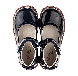 Детские туфли ортопедические Woopy Orthopedic черные для девочек натуральная лаковая кожа размер 28-35 (3703) Фото 5