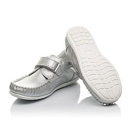 Детские мокасины Woopy Orthopedic серебряные для девочек натуральная кожа размер 26-36 (3704) Фото 2