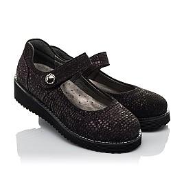 Детские туфли Woopy Orthopedic фиолетовые для девочек натуральный нубук размер 32-37 (3706) Фото 1