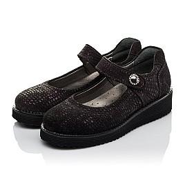 Детские туфли Woopy Orthopedic фиолетовые для девочек натуральный нубук размер 32-37 (3706) Фото 3
