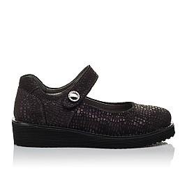 Детские туфли Woopy Orthopedic фиолетовые для девочек натуральный нубук размер 32-37 (3706) Фото 4
