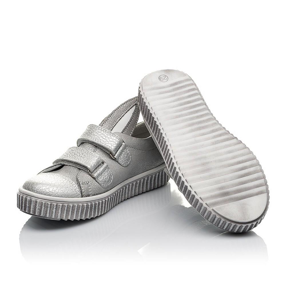 Детские кеды Woopy Orthopedic серебряные для девочек натуральный нубук размер 19-33 (3711) Фото 2