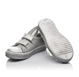 Детские кеды Woopy Orthopedic серебряные для девочек натуральный нубук размер 21-33 (3711) Фото 2