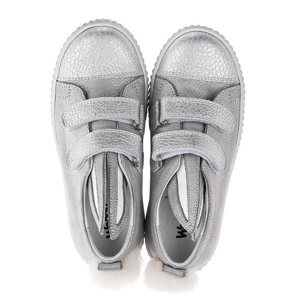 Детские кеды Woopy Orthopedic серебряные для девочек натуральный нубук размер 19-33 (3711) Фото 5