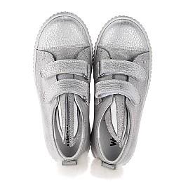 Детские кеды Woopy Orthopedic серебряные для девочек натуральный нубук размер 21-33 (3711) Фото 5