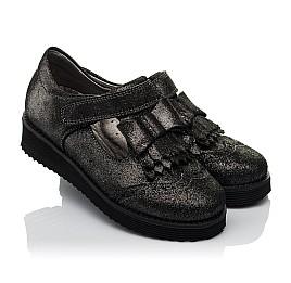 Детские туфли Woopy Orthopedic черные для девочек натуральный нубук размер 30-38 (3712) Фото 1