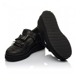 Детские туфли Woopy Orthopedic черные для девочек натуральный нубук размер 30-38 (3712) Фото 2