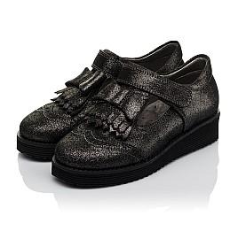 Детские туфли Woopy Orthopedic черные для девочек натуральный нубук размер 30-38 (3712) Фото 3