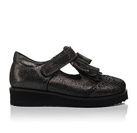 Детские туфли Woopy Orthopedic черные для девочек натуральный нубук размер 30-38 (3712) Фото 4