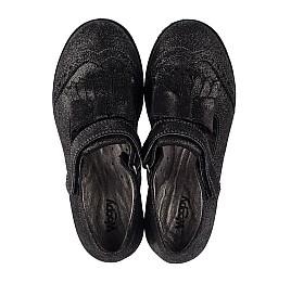 Детские туфли Woopy Orthopedic черные для девочек натуральный нубук размер 30-38 (3712) Фото 5
