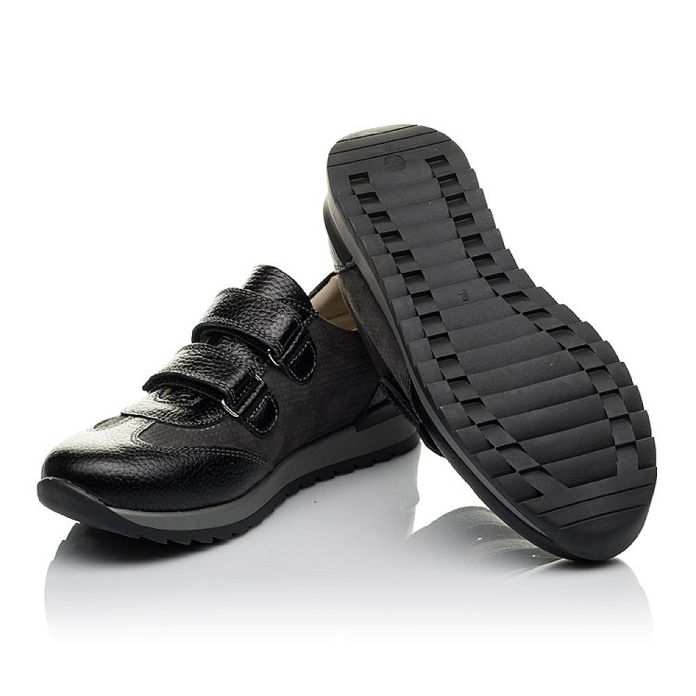 Детские кроссовки Woopy Orthopedic серые, черные для мальчиков натуральная кожа, нубук размер 30-40 (3713) Фото 2
