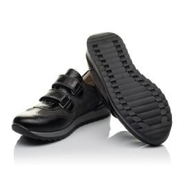 Детские кроссовки Woopy Orthopedic серые, черные для мальчиков натуральная кожа, нубук размер 33-40 (3713) Фото 2