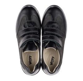 Детские кроссовки Woopy Orthopedic серые, черные для мальчиков натуральная кожа, нубук размер 33-40 (3713) Фото 5