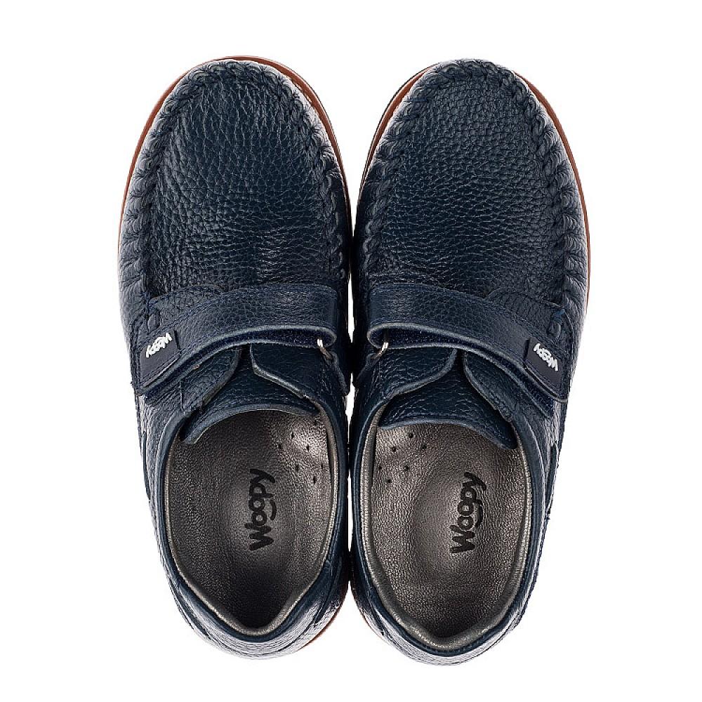 Детские туфли Woopy Orthopedic синий для мальчиков натуральная кожа размер 29-39 (3714) Фото 5
