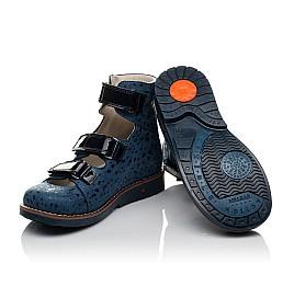 Детские ортопедические туфли (с высоким берцем) Woopy Orthopedic синие для девочек натуральный нубук размер 30-35 (3715) Фото 2
