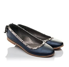 Детские туфли Woopy Orthopedic синие для девочек натуральная кожа размер 38-39 (3716) Фото 1