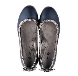 Детские туфли Woopy Orthopedic синие для девочек натуральная кожа размер 38-39 (3716) Фото 5
