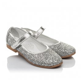 Детские туфли Woopy Orthopedic серебряные для девочек современный искусственный материал размер 34-35 (3717) Фото 1