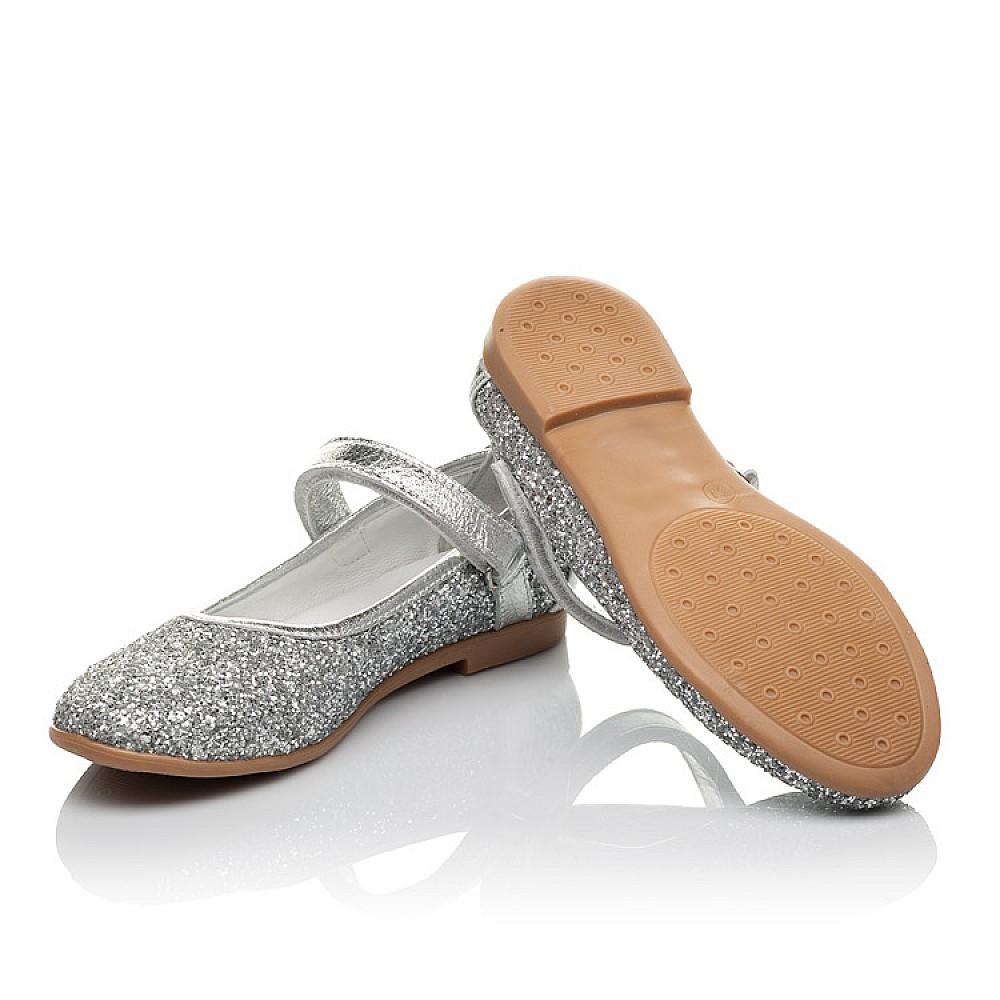 Детские туфлі Woopy Orthopedic срібні для девочек  размер 31-37 (3717) Фото 2