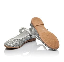 Детские туфли Woopy Orthopedic серебряные для девочек современный искусственный материал размер 34-35 (3717) Фото 2