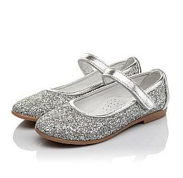 Детские туфли Woopy Orthopedic серебряные для девочек современный искусственный материал размер 34-35 (3717) Фото 3